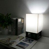 40W (ohne Glühbirne) Tischlampe US-Standard Schwarzer Four-Eckbasis (Dual-USB-Schnittstelle) AC Positive Warme Beleuchtungstischlampen