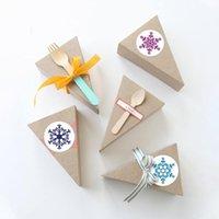 Regalo Wrap 500pcs / roll fiocco di neve allegro Adesivi natalizi Adesivi per Natale Buste Buste Etichetta Sigillatura Adesivo Regali Decorazioni decorazioni