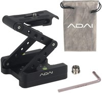 ADAI liga de alumínio dobragem em Z do cardan curvado inclinando cabeça Z-tipo dobrável cardan 360 ° de rotação para a câmara Canon DSLR Nikon Sony