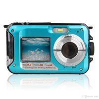 2.7 TFT Fotocamera digitale impermeabile Full HD Fotocamera subacquea 24 MP Videoregistratore Se Selfie Dual Screen DV registrazione telecamera R25