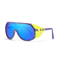 جديد في الهواء الطلق مصمم الرياضة النظارات الشمسية TR90 إطار مكافحة الأشعة فوق البنفسجية HD نظارات ركوب uv400 نظارات سيامي 10 ألوان