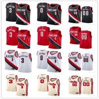 Juventude das mulheres mensTrilha de Portland.Blazers.3 C.J. McCollum 0 DamianLillard 00 Carmelo.Anthony personalizado jerseys de basquete