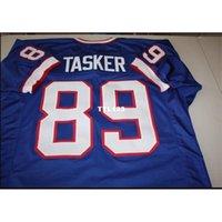 121 Steve Tasker # 89 Dikişli Dikişli Ev Retro Jersey AFC Şampiyonu Tam Nakış Jersey Boyutu S-4XL veya Özel Herhangi Bir Ad veya Numara Forması