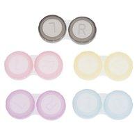 2020 다채로운 케이스 콘택트 렌즈 상자 콘택트 렌즈 케이스 안경 컬러 더블 박스 콘택트 렌즈 케이스 아이웨어 액세서리