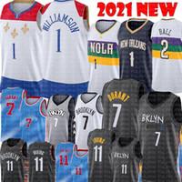 2021 Kevin 7 Durant Jersey Kyrie 11 Nouveau Irving Zion 1 Williamson Jersey Basketball Basketball Lonzo 2 Ball Jersey cousu Ventes bon marché S-XXL