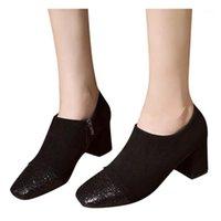 Lantejoulas bling botas curtas Botas de tornozelo das mulheres outono festa de casamento sapatos de salto alto senhora elegante bota casual clássico preto botas1