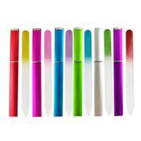 File per unghie in vetro con cassa Doppia fingerine File per unghie Professionale Manicure Nail Care Tools per il salone e l'uso domestico