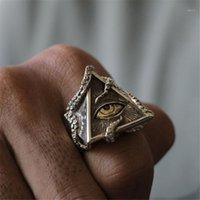 FDLK старинные осьминоги треугольника для глаз классические мужчины мода панк-вечеринка кольцо аксессуары ювелирные изделия для мужской вечеринки лучший подарок1
