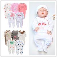 2020 kavkas baby girl roupa de Bebe neugeborene Vollarm 3m 6m 9m 12m Säuglingsmädchen Strampler Neugeborene Kleidung Bebek Giyim Jumpsuits F1210