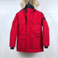 Классическая брендовая куртка для мужчин для мужчин с белой утиной мех с капюшоном. Легкая парка Parka зимнее пальто ветровщик