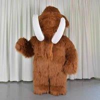 2m hög uppblåsbar elefant mammot maskot kostym vuxen snygg klänning jul fest maskot kostym karneval kostymer gratis shippin