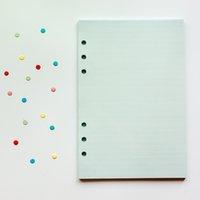 Handbook de page de remplacement personnalisé multi-choix multi-choix d'ordinateur portable A6 SIX-HHRS LOIPE POINT AVEC Pages intérieures colorées A07 136 K2