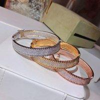 Hot Marke S925 Versilbertes Rundarmband 5A Zirkon Set Klassisch Design Voll Diamant Armband Luxus Mode Berühmte Abschlussball Paar Armband