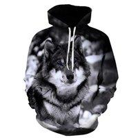Biaolun New Wolf Felpe con cappuccio da uomo con cappuccio da uomo autunno inverno hip hop con cappuccio con cappuccio Casual Brand 3D Wolf Head Felpa con cappuccio Felpa S-6XL 201104