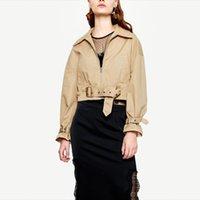 Bella philosophy Autumn Long Sleeve Jackets Vintage TurnDown Collar Female Sashes Jackets Casual Street Wear Lady Short Outwears