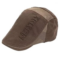 Uomini regalo lettera modello ricamo cappelli sudore assorbente berretto all'aperto a rete a maglia dome casual regolabile visiera moda usura resistenze1