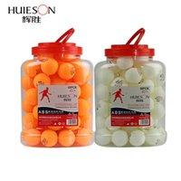 Huieson 60pcs / برميل المهنية 3 نجوم تنس الطاولة الكرة D40 + MM 2.8G ABS جديد المواد البلاستيكية بينغ بونغ الكرة لتدريب النادي 201019