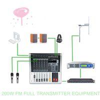 YXHT 200W 87.5-108.0mHz FM Transmetteur de diffusion Station de radio Equipement complet avec mélangeur de 6 canaux pour la livraison gratuite Boîte intelligente