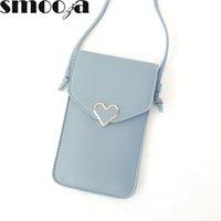 HBP Smooza kadın kalp şeklinde dekorasyon şeffaf dokunmatik ekran basit retro cep telefonu çantası 2020 yeni öğrenci toka küçük çanta