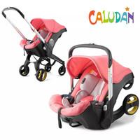 Carrinho de bebê 3 em 1 com assento de carro Baby Bassinet Alto Landscape Carding Prams para recém-nascidos 4 em 1 navio grátis