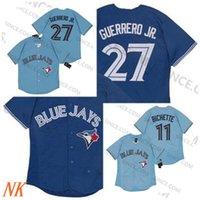Fabrika Outlet Toronto Vladimir Guerrero Jr. Jay Jersey Mavi 11 Bo Bichette Boş Yok Adı Yok Numarası Beyzbol Formaları En Kaliteli Erkek Boyutu