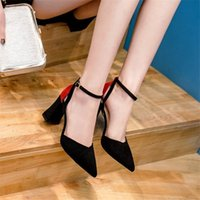 2021 Новое лето заостренные ножные туфли с сексуальными высокими каблуками, дикой модой, железом, сандалиями от тонкой дышащей женской обуви, бомбы. R7ve.