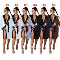 Mulheres Casa Dress Nightgown Midi Vestidos Outono Roupa de Inverno Lazer Wear Casaco S-2XL Impresso Manga Longa Robedhl 4258