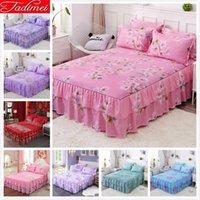 New Fashion Flower Pattern Faldas de cama rosada para niños para adultos Niña Niña Cubierta de cama Individual Completa Twin Queen King Size Betspreads 150x200 180x200