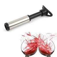 마시는 빨 대 진공 펌프 바 액세서리가있는 와인 마개 공기 잠금 장치 강철 씰링 보호기 신선한 aerator 스테인리스 병 유지 M4Q4