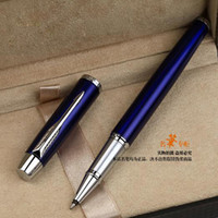 Frete Grátis Blue Silver Roller Ball Pen Signature Ballpoint Caneta Multi Cor Gel Penas de Escrita Escola Escritório Fornecedores Papelaria