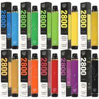 최고 품질 퍼프 플렉스 2800 퍼프 일회용 막대 vape 펜 1500mAh 배터리 10ml 포드 카트리지 미리 채워진 Ecigarette 기화기 휴대용 증기