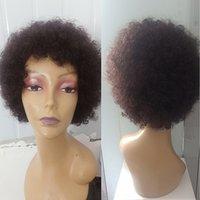 Parrucca di capelli esplosivi set africano a microonde africano corto riccio capelli umani capelli umani universali capelli umani universali per uomini e donne