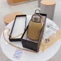 Diamantes completos Botella de agua Thermos Botella de agua Acero inoxidable Pot-vientre Taza Vacuum Thermo Taza Regalo para hombres y mujeres Regalo de San Valentín