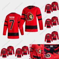 2020-21 Reverse Retrô Brady Tkachuk Jersey Ottawa Senators Bobby Ryan Thomas Chabo Mark Borowiecki Craig Anderson Colin White Home Road