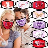 DHL الشحن النساء قناع الوجه مكافحة الغبار أقنعة القطن قابل للغسل قابلة لإعادة الاستخدام الفم الغلاف عيد الحب يوم حزب صالح كيمتر FY9330