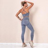 Outfits Yoga GXQIL бюстгальтер для фитнеса Женщины бесшовные комплекты тренажерный зал одежда спортивные леггинсы костюм одежда одежда