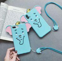 3D-Karikatur-Toast-Brot-dicke Lippen Ente Elefant weiche Silikon-Telefon-Back-Fall-Abdeckung für iPhone 11 pro x xs max xr 6 6 s 7 8 plus