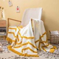 "Tassles Coperte Divano Maglia Throw Coperte Blanket Mustarda Pink Soft Breging Travel 130x160cm Home Divano Sedia Couch Letto 50 ""X62"" 1"