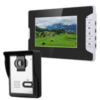 فيديو باب الفيديو 7 بوصة شاشة LCD شاشة الهاتف الجرس إنترفون كيت 1-كاميرا 1 مراقب للرؤية الليلية مع كاميرا 700TVL1