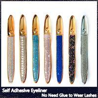 Eyeliner magico autoadesivo per ciglia finte Non ha bisogno di colla da indossare ciglia Eyeliner liquido forte autoadesivo Eyeliner eyeliner