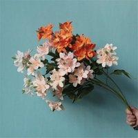 """Falso Longo Stem Frésia 28.74 """"Comprimento Orquídea Artificial para Casamento Home Flores Artificiais 5 Cores"""