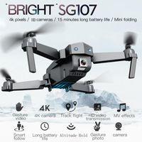 طائرات بدون طيار 2021 درون SG107 للطي بدون طيار 4 كيلو واي فاي fpv hd كاميرا quadcopter الارتفاع وضع رئيس وظيفة خفيفة الوزن