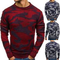 2020 otoño / invierno CAMO Cuello redondo Suéter de pull-sobre colores con colores contrastantes sueltos Navidad Outerwear Suéter1
