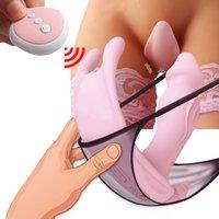 Controle remoto empurrando vibradores cuecas para mulheres clitóris estimulador adulto máquina sex máquina masturbador feminino vagina brinquedo c0224