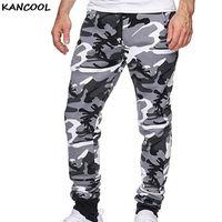 Pantalon pour hommes Kancol Winter camouflage Fitness Pantalons Mens Hommes Cordon de cordon chaud Joggers Slim Camo Gym Sweatpants Cargo