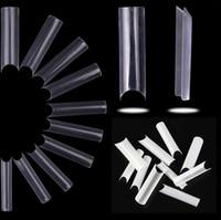 500 unids Forma cuadrada extra larga con puntas de uñas falsas rectas Extensión de uñas French Acrylic Salon Tips Fake 2021