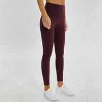 Podsycal Tinta unita Pantaloni da yoga per donna Vita alta Abbigliamento sportivo da palestra Leggings Elastico Fitness Lady Complessivo Collant completo Allenamento Taglia XS-XL