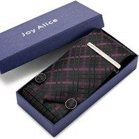 4 stücke Männer Feste Rosa Krawatte Taschentuch Manschettenknöpfe 8 cm Krawatte Tasche Quadrat Krawatte Clip Für Männer Hochzeit Zubehör
