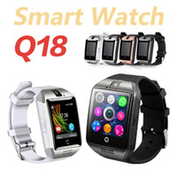 Q18 Watch Smart Watch Smart Bracelet Bluetooth Sim Sport Watch avec carte TF pour Android CellPhones PK V8 DZ09
