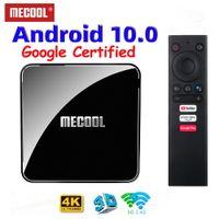 Mecool KM3 ATV TV Box 4GB RAM 128GB AndroidTV Google Certified Android 10 Amlogic S905X2 4K 듀얼 WiFi BT4.0 Set Topbox KM9 Pro